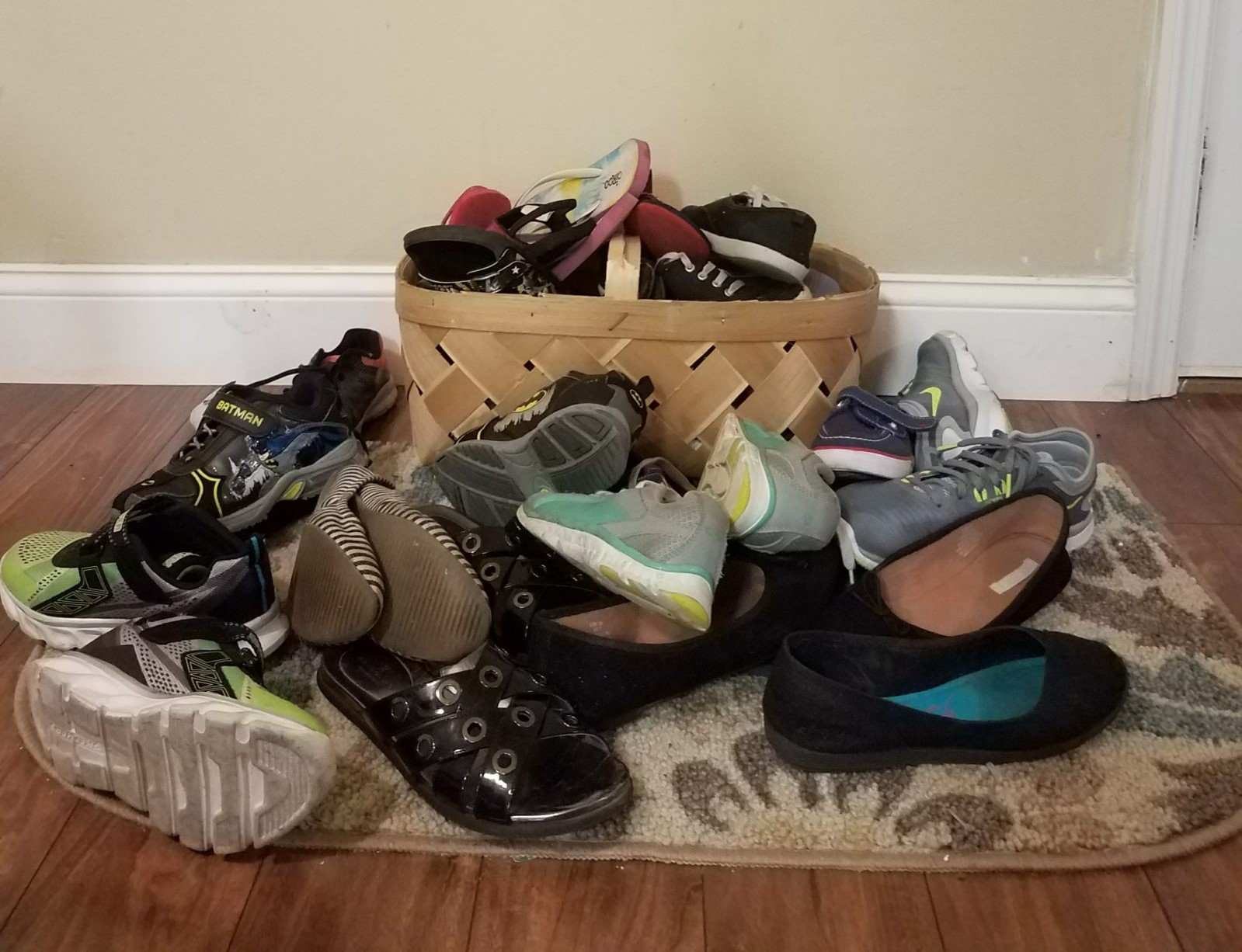 Cluttered shoes