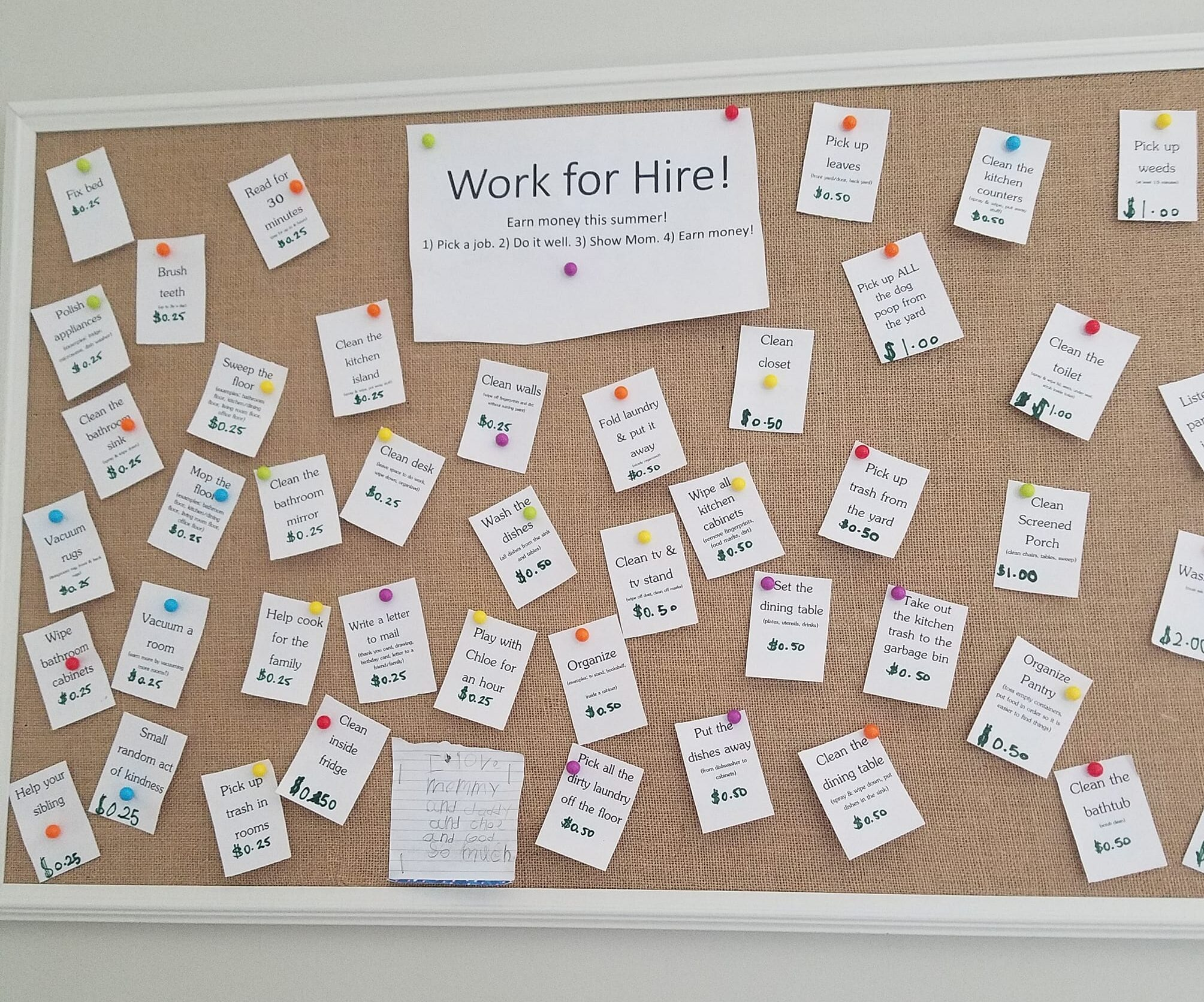 Job Board for Chores